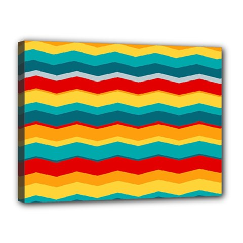 Retro Colors 60 Background Canvas 16  X 12  (stretched)