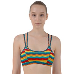Retro Colors 60 Background Line Them Up Sports Bra