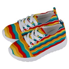 Retro Colors 60 Background Kids  Lightweight Sports Shoes by Sapixe