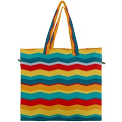 Retro Colors 60 Background Canvas Travel Bag by Sapixe