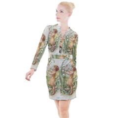 Fairy 1225819 1280 Button Long Sleeve Dress by vintage2030