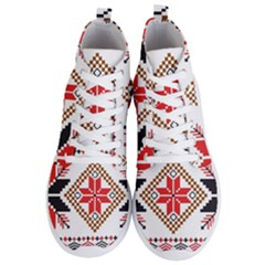 Ornament Stars Textile Crochet Men s Lightweight High Top Sneakers