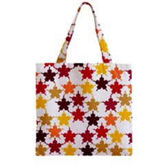 Background Abstract Zipper Grocery Tote Bag by Sapixe