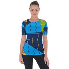 Background Wallpaper Colors Color Shoulder Cut Out Short Sleeve Top by Sapixe