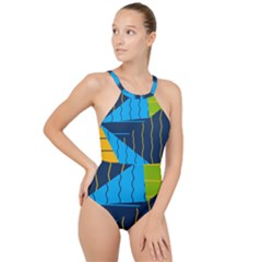 Background Wallpaper Colors Color High Neck One Piece Swimsuit
