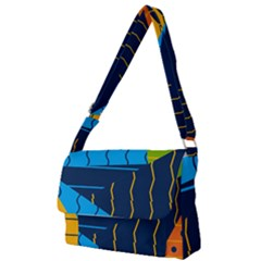 Background Wallpaper Colors Color Full Print Messenger Bag