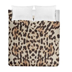 Pattern Leopard Skin Background Duvet Cover Double Side (full/ Double Size)
