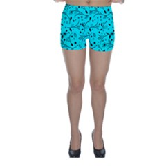 Pattern Flowers Flower Texture Skinny Shorts by Sapixe