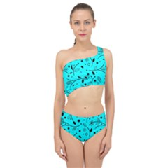 Pattern Flowers Flower Texture Spliced Up Two Piece Swimsuit