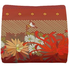 Abstract Background Flower Design Seat Cushion by Sapixe