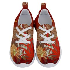 Abstract Background Flower Design Running Shoes