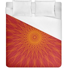 Background Rays Sun Duvet Cover (california King Size)