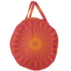 Background Rays Sun Giant Round Zipper Tote by Sapixe