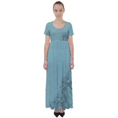 Background 1210569 1280 High Waist Short Sleeve Maxi Dress