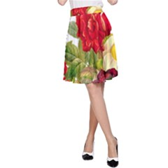 Flower Bouquet 1131891 1920 A-line Skirt by vintage2030