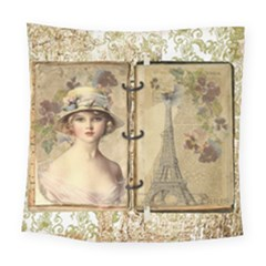 Paris 1122617 1920 Square Tapestry (large) by vintage2030