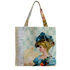 Lady 1112776 1920 Zipper Grocery Tote Bag by vintage2030
