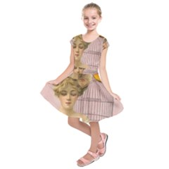 Woman 1079479 1920 Kids  Short Sleeve Dress by vintage2030