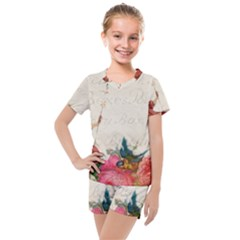 Girl 976108 1280 Kids  Mesh Tee And Shorts Set