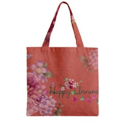 Flower 979466 1280 Zipper Grocery Tote Bag by vintage2030