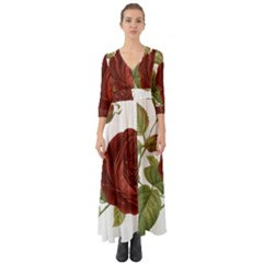 Rose 1077964 1280 Button Up Boho Maxi Dress by vintage2030