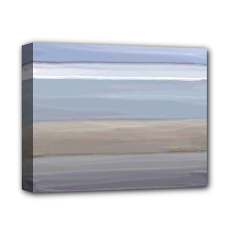 Pompey Beach Deluxe Canvas 14  X 11  (stretched)