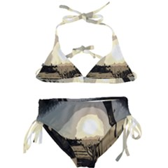 Sunrise Over The Plains Kids  Classic Bikini Set