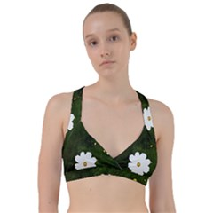 Daisies In Green Sweetheart Sports Bra