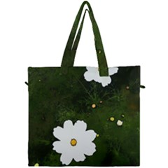 Daisies In Green Canvas Travel Bag by DeneWestUK
