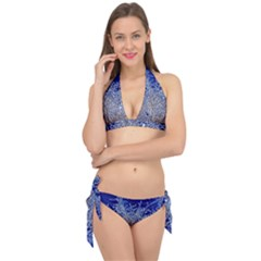 Crystalline Branches Tie It Up Bikini Set