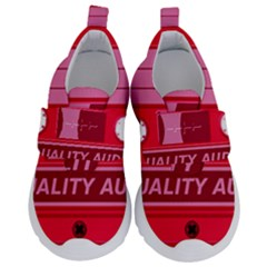 Red Cassette Velcro Strap Shoes