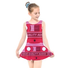Red Cassette Kids  Skater Dress Swimsuit