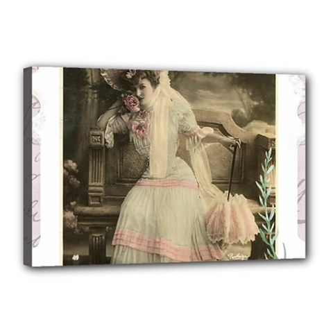 Vintage 1071148 1920 Canvas 18  X 12  (stretched) by vintage2030