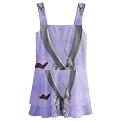 Cute Little Pegasus With Butterflies Kids  Layered Skirt Swimsuit