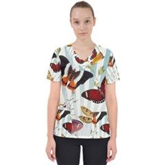 Butterfly 1064147 1920 Women s V Neck Scrub Top