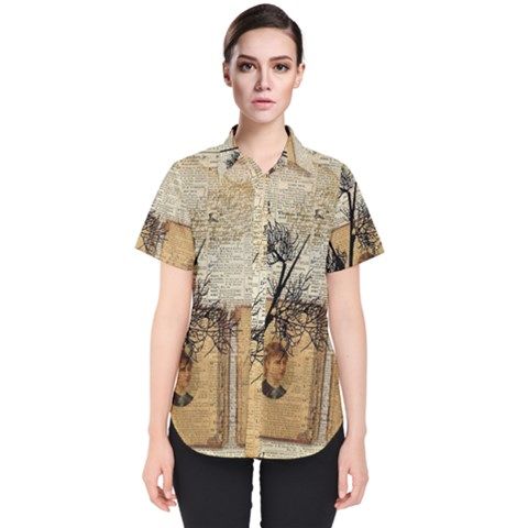 Vintage 1067751 1920 Women s Short Sleeve Shirt by vintage2030