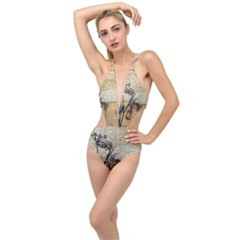Vintage 1067751 1920 Plunging Cut Out Swimsuit