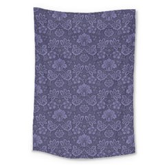 Damask Purple Large Tapestry by vintage2030