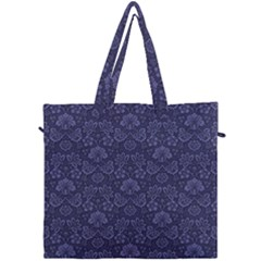 Damask Purple Canvas Travel Bag by vintage2030