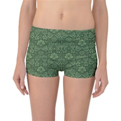 Damask Green Boyleg Bikini Bottoms by vintage2030