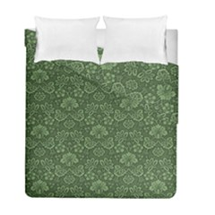 Damask Green Duvet Cover Double Side (full/ Double Size)