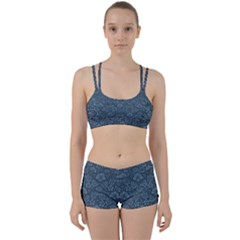Damask Blue Perfect Fit Gym Set by vintage2030