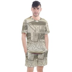 Vintage 979514 1280 Men s Mesh Tee And Shorts Set