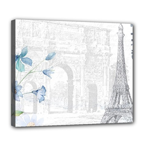 French 1047909 1280 Deluxe Canvas 24  X 20  (stretched)