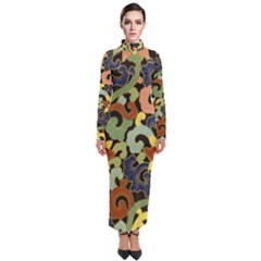 Abstract 2920824 960 720 Turtleneck Maxi Dress