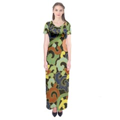 Abstract 2920824 960 720 Short Sleeve Maxi Dress