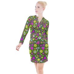 Abstract 1300667 960 720 Button Long Sleeve Dress by vintage2030