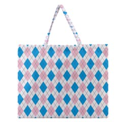 Argyle 316838 960 720 Zipper Large Tote Bag