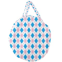 Argyle 316838 960 720 Giant Round Zipper Tote