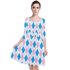 Argyle 316838 960 720 Quarter Sleeve Waist Band Dress